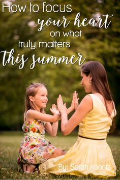 We can succeed at creating a positive environment for our children to grow and thrive during the summer break without sacrificing our own sense of well-being in the process. All that is required to accomplish this goal is a few simple strategies, a slight shift in expectation and a lot of prayer. Here are three thought-provoking questions to hep you prepare your heart for the summer months...
