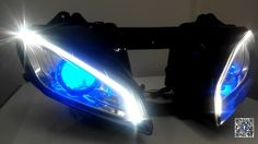 Yamaha YZF R6 optical fiber custom headlight Assembly 2006-2007 V2 integrated with turn signal function http://www.ktmotorcycle.com