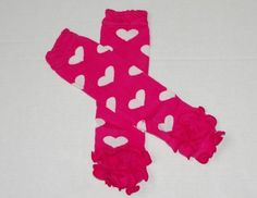 Pink Leg Warmers w/White Hearts only $2.49