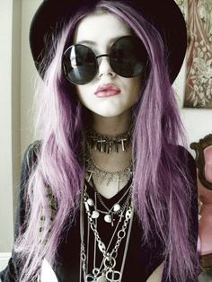 [ • Nu Goth - sunglasses - hair - jewelry • ]