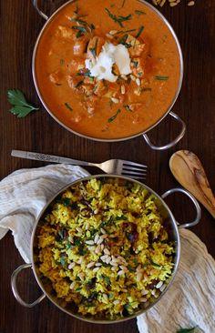 Crock Pot Chicken Tikka Masala with Ginger and Turmeric Aromatic Rice