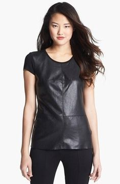 Fall Fashion Must Have - Faux Leather Tee