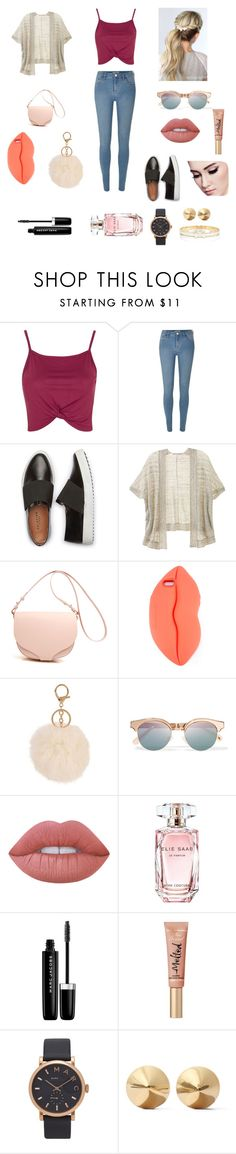 """Too cute"" by keilydelgado on Polyvore featuring Topshop, River Island, Victoria's Secret, STELLA McCARTNEY, Le Specs, Lime Crime, Elie Saab, Marc Jacobs, Too Faced Cosmetics and Eddie Borgo"