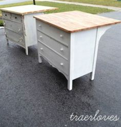 7 Kitchen Island Ideas You Haven't Thought Of. Ready to put a kitchen island in your home, but short on ideas and budget? Take a look at these seven different DIY kitchen island ideas! There are great big and small kitchen island ideas too! Furniture Projects, Furniture Makeover, Home Projects, Diy Furniture, Furniture Stores, Furniture Refinishing, Chair Makeover, Furniture Plans, Luxury Furniture
