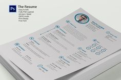Resume Templates by Graphicalark on @creativemarket