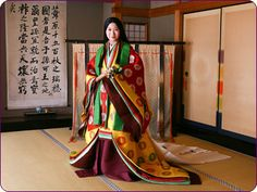 Junihitoe Heian Era, Japanese Kimono, Geisha, Ideias Fashion, Sari, How To Wear, Clothes, Image, Period
