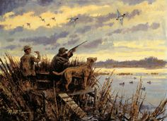 [ Sport Bird Hunting Painting in Oil ]