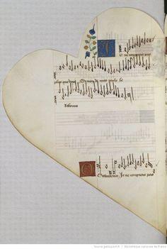 Titre :  Chansonnier cordiforme de Montchenu. RECUEIL de Chansons italiennes et françaises.  Date d'édition :  1470-1480  Rothschild 2973  Folio 51v
