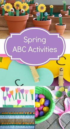 Spring ABC Activities ~Creative ways to learn the alphabet indoors and outdoors this spring Home Preschool Schedule, Preschool At Home, Preschool Lessons, Spring Activities, Preschool Activities, Creative Activities, Reading Activities, Preschool Learning, Kindergarten Classroom