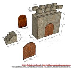 Piezas de la sección de entrada de la Muralla Medieval