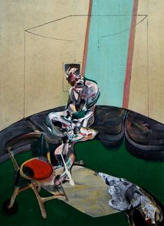 Francis Bacon, George Dyer Fixing a Curtain Cord, 1966