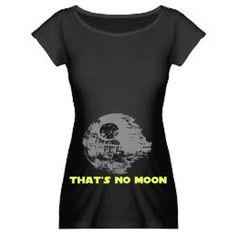 Star Wars Maternity T Shirt Thats NO MOON by GoGetYourGeekOn, $30.00