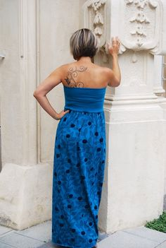 Maxikleid DIY Strapless Dress Formal, Formal Dresses, Blueberries, Organic Cotton, Design, Fashion, Strapless Dress, Princess, Blue