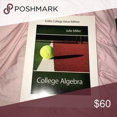 College algebra text book College Algebra Collin college value edition by Julie Miller Other