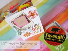 DIY Pocket Notebook– Great for Vacation Memories! - EverythingEtsy.com