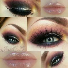 eyes are quite dramatic, but i LOVE the lips color like no other!