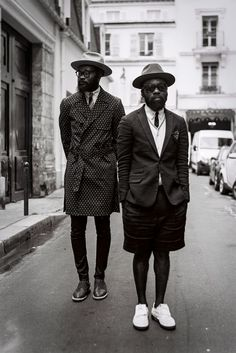 Shaka Maidoh and Sam Lambert of Art Comes First, outside the Global Village / Avec Ces Freres Showroom in Paris 2014