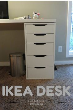 Ikea Desk with Alex 6 drawers, about 6 feet long can accomodate multitasking (office space and vanity) or even multiple people!