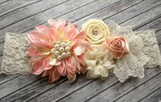 Vintage inspired pink ivory silk lace by lexicouture on Etsy, $15.99