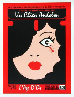 Luis Bunuel Salvador Dali Un Chien Andalou Silkscreen Movie Poster by Scrojo Dali, Cool Posters, Travel Posters, Underground Film, Luis Bunuel, Classic Movie Posters, Classic Movies, Max Ernst, Alternative Movie Posters