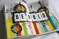 Donna Downey art journal page. Love!