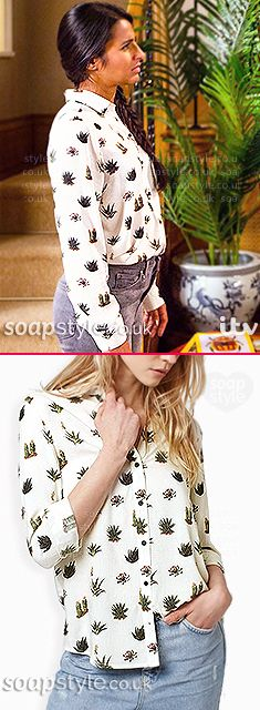 Found: Alya's Cactus Print Shirt in Coronation Street [✚Click photo for info]