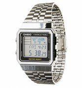 Silver World Time Digital Watch A500WEA-1EF from Casio