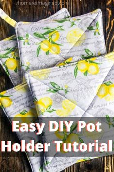 Learn how to make a DIY pot holder with this quick and simple pot holder tutoria. - Learn how to make a DIY pot holder with this quick and simple pot holder tutorial. We'll cover ev - Diy Sewing Projects, Sewing Hacks, Sewing Crafts, Sewing Ideas, Kid Crafts, Sewing Patterns, Crochet Patterns, Crochet Granny Square Afghan, Granny Squares