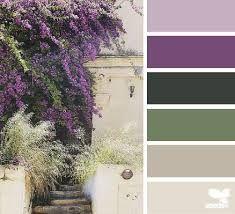 Village hues (design seeds) color schemes цвета интерьера, ц Purple Color Schemes, Purple Color Palettes, Green Colour Palette, Room Color Schemes, Color Combos, Lavender Color Scheme, Design Seeds, Color Palette For Home, Color Concept