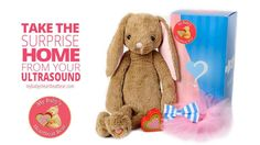 Our vintage bunny is now available in a gender reveal kit.