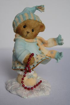 "Sammelfigur - Cherished Teddies - Winter - Weihnachten - Ashley - ""Winter Wishes For A Season Filled With Joy!"""