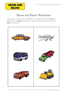 preschool kindergarten basic concept worksheets | Speech Therapy ...