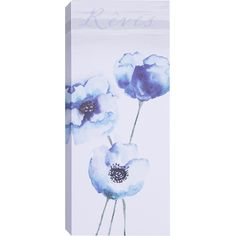 Found it at Wayfair - 'Blue Tall Flowers II' by Samantha T. Wall Art on Wrapped Canvas