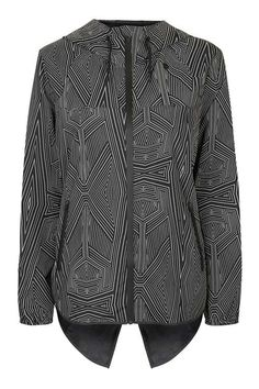 Reflective Print Wrap Back Jacket by Ivy Park - Ivy Park - Clothing