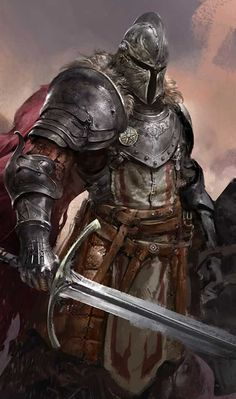 study_a knight by dongjun lu fantasy armor, dark fantasy, fantasy fighter, fantasy Fantasy Warrior, Fantasy Fighter, Dark Fantasy Art, Fantasy Artwork, Fantasy Rpg, Armadura Medieval, Medieval Knight, Medieval Armor, Armor Concept