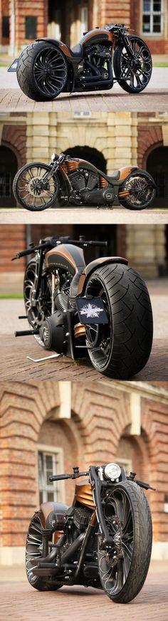 Harley-Davidson com visual agressivo, porém, harmonioso.
