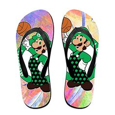 Shehe Cartoon Celtics Play Basketball Unisex Leisure Beach Flipflops Thong Size L Black -- Click image for more details.(This is an Amazon affiliate link and I receive a commission for the sales)