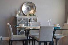 """Home Staging, gray dining rooms, accessories for dining rooms. """"How to Style Simply & the 4 Offenders."""" – Daricilar Design Studio"""