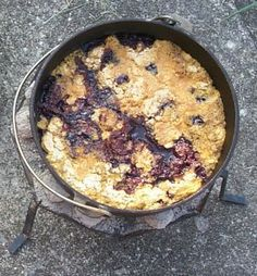 See everyone's eyes come alive when you make Blackberry Cobbler Dutch Oven while CAMPING!