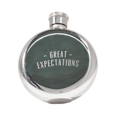 Great Expectations Flask - what a cool gift!! #flask #drink #gift #guy #girl