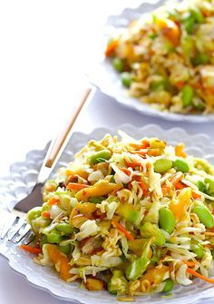 12. Crunchy Asian Ramen Noodle Salad #quick #healthy #recipes http://greatist.com/eat/10-minute-recipes