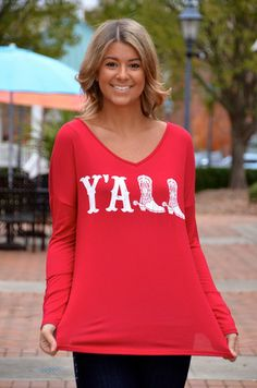 Y'ALL top, red – Chapter 2 Boutique