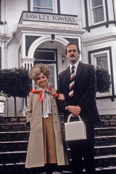Looks To Be Avoided: Basil Fawlty (John Cleese) & Sybil Fawlty (Prunella Scales) At Fawlty Towers