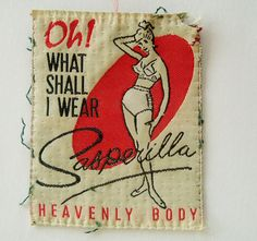 Wonderful 1940s vintage clothing label