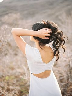 love the back of this dress! photo by Chelsea Scanlan http://ruffledblog.com/cinco-de-mayo-wedding-ideas #dress #bridesmaids
