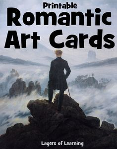 This is a set of free printable art cards from the Romantic period to teach kids art appreciation.