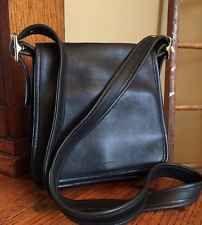 Vintage COACH Black Leather Legacy Studio Cross Body Messenger Purse 9145 SMALL