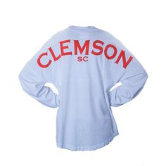Sz. Medium. Palmetto Moon | Clemson Long Sleeve Spirit Jersey | Palmetto Moon