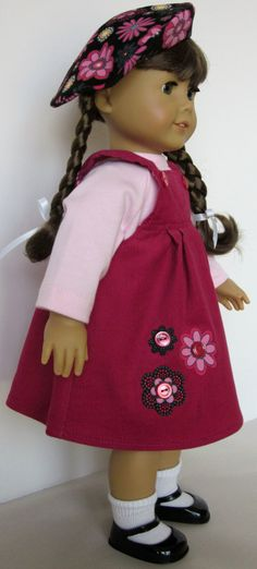 American Girl Doll Clothes  Jumper Tee and by SewMyGoodnessShop