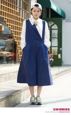 K-SWISS KOREA woman style street fashion #BLADE_MAX  #kswissloveblog